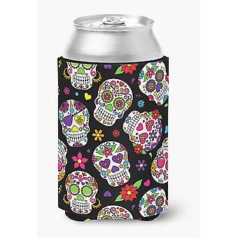 Carolines Treasures  BB5116CC Day of the Dead Black Can or Bottle Hugger