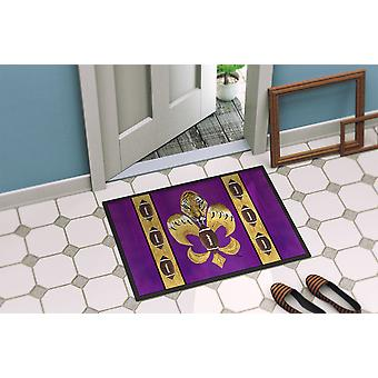 Tiger Football Fleur de lis  Indoor or Outdoor Mat 18x27 8205 Doormat