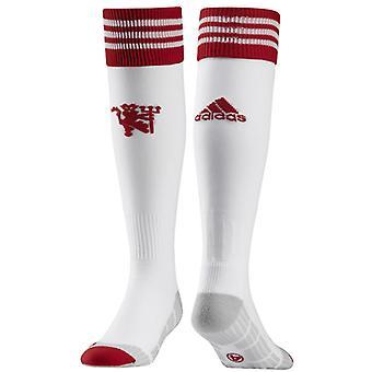 2015-2016 Man Utd Adidas Home Change Socks (White)