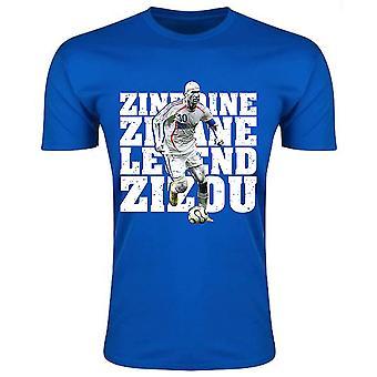 Zinedine Zidane France Legend T-Shirt (Blue) - Kids