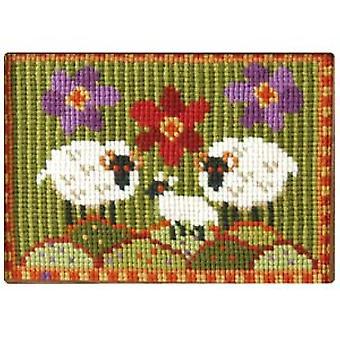 Wee Three Sheep Needlepoint Kit