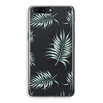 OnePlus 5 Transparant Case (Soft) - Simple leaves