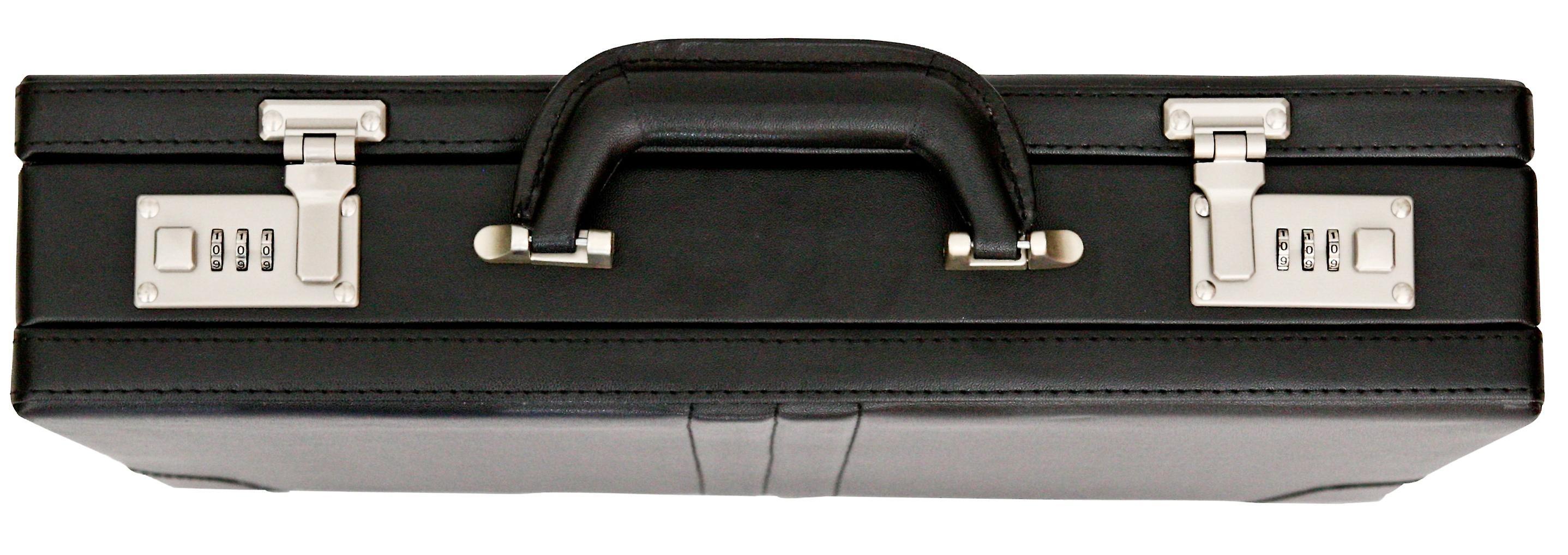 Tassia Attache Briefcase Leather Look Pu Executive Case Expanding Business Bag
