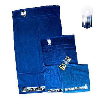 Doctor Who Tardis conjunto toalha 3pc