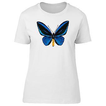 Ornithoptera Blue Butterfly Tee Women-beeld door Shutterstock