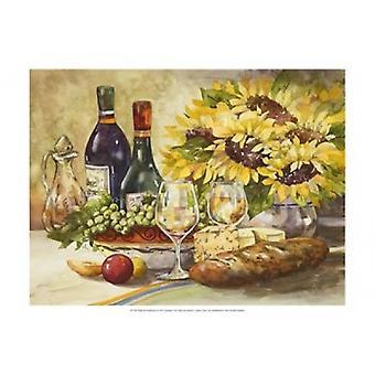 Vin & solsikker Poster trykk av Jerianne Van Dijk (19 x 13)