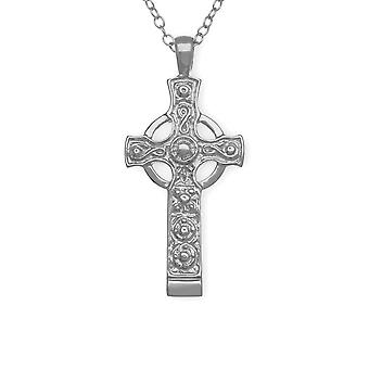 Sterling Silver Traditional Scottish Kildalton Cross Hand Crafted Necklace Pendant