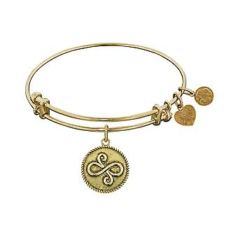 Smooth Finish Brass Best Friends  Angelica Bangle Bracelet, 7.25""