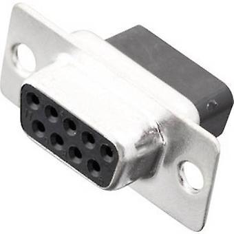 CONECTOrES MHDBC09-SS 2101-0190-11 D-SUB receptáculos 180 ° Número de pinos: 9 Crimp 1 pc (s)