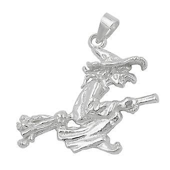 Серебряный кулон Кулон ВЕДЬМА на метле ведьма кулон серебро 925