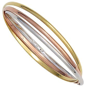 coloured bracelet rhodium-plated sterling silver part gilt red partially gold-plated
