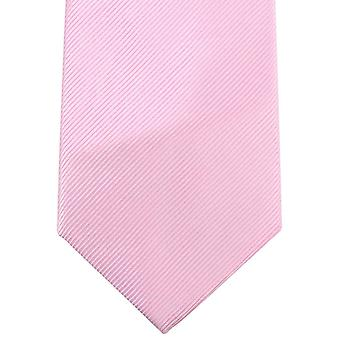 Knightsbridge Neckwear Plain Diagonal Ribbed Tie - Light Pink