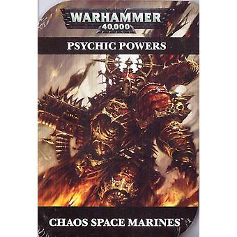 Psychic Cards - Chaos Space Marines - Warhammer 40,000