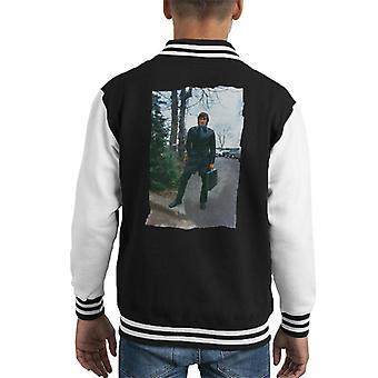 TV Times George Best lederen Duster Kid's Varsity Jacket