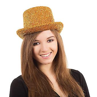 Bnov Top Hat Gold Tinsel