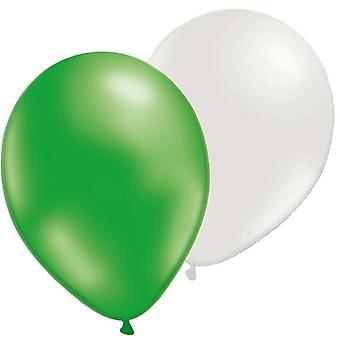 Mix balloons 12-pack Green metallic and Pearl emovit