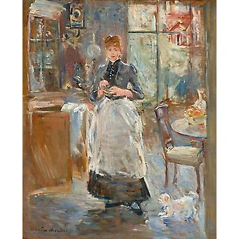 In the Dining Room,Berthe Morisot,50x40cm