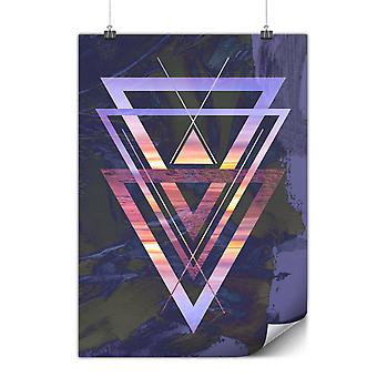 Matte or Glossy Poster with Sunset View Triangle   Wellcoda   *y3022
