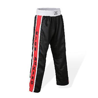 Bytomic Mesh Kickboxing broek zwart/rood