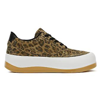 TOWER London Hoxton Womens Leopard Trainers
