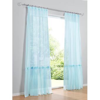 Heine home 2er Set Dekostore Schlafzimmer romantisch transparent Volant mit Blüten