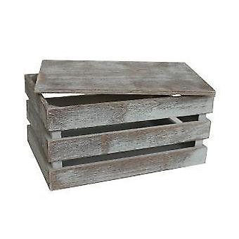 Medium Vintage Slatted Wooden Box