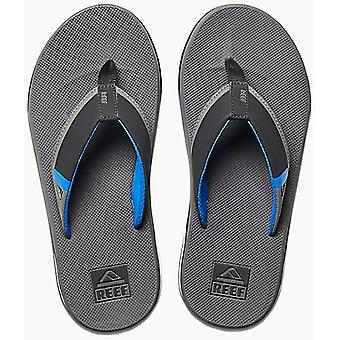Reef Fanning low flip flops in grijs/blauw