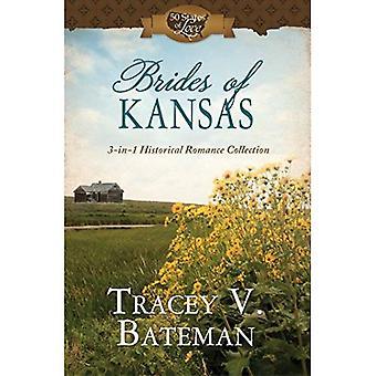 Bruiden van Kansas: 3-In-1 historische Romance collectie (50 staten van de liefde)