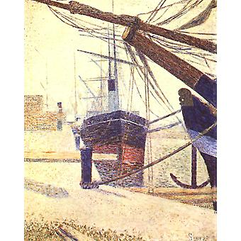 Kulman laituri, Georges Seurat, 50x40cm