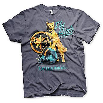 Marvel Unisex T-paita Kapteeni Marvel Fly high