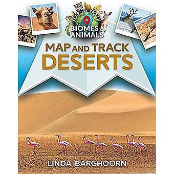 Karta och bana öknar (karta och spår biom och djur)