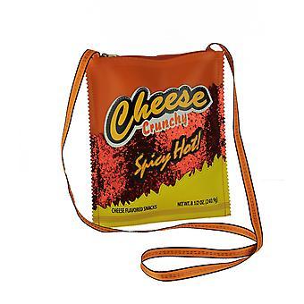 حقيبة كروس بودي برتقالية وصفراء لامعة