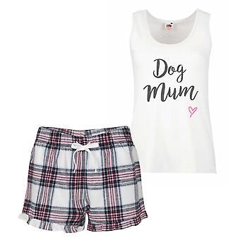 Dog Mum Pink Tartan Pyjamas