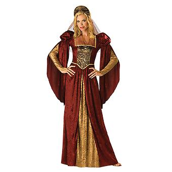 Frauen Renaissance Maiden Königin Geschichte Fancy Dress Kostüm