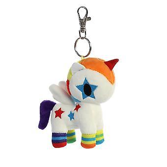 Tokidoki Bowie Unicorno plysch nyckel klämma 4,5