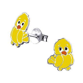 Kinderen Sterling Silver Chick Stud Oorbellen