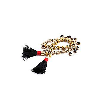Boho Adjustable Tribal Strands Tassel Pom Link Bangle Bracelet