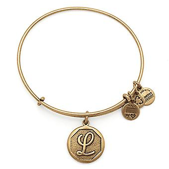 Alex and Ani Initial L Gold Bangle A13EB14LG