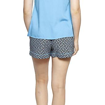 Cyberjammies 4195 vrouwen Milly Black mix tegel print katoen pyjama short