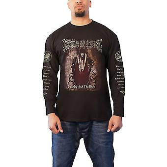 Cradle Of Filth T Shirt Cruelty And The Beast Official Black Mens Long Sleeve