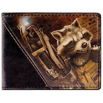 銀河の守護者ロケット ID ・ カードの二つ折り財布を驚嘆します。