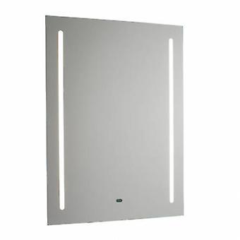 1 ljus upplyst badrum Shaver Mirror matt silver effekt färg Ip44