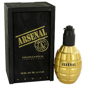 Arsenal gold eau de parfum spray by gilles cantuel 467857 100 ml