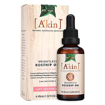 A ' Kin Weightless Rosehip Óleo natural australiano cabelo rosto & amp; Body skincare 45ml