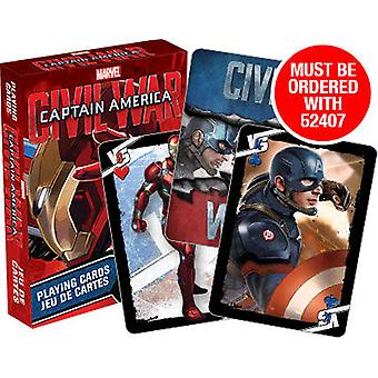 Playing Card - Civil War - Iron Man Cover Poker Games New Licensed 52408