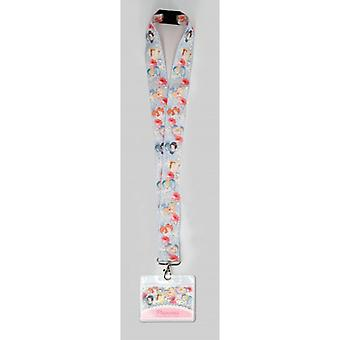 Lanyard - Disney Princess - Baby Blue w/Deluxe Card Holder New 86057