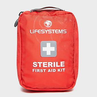 New LIFESYSTEMS Sterile First Aid Kit Outdoors Camping Red