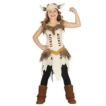 Girls Saxon Viking Barbarian Fancy Dress Costume