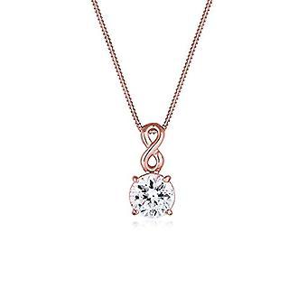 Naszyjnik dla kobiet Elli w kolorze srebrnym 925 z Białym Kryształem Swarovskiego - Różowe złoto