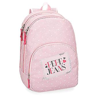Pepe Jeans Olaia Pink Adaptable Sac à dos 44 cm - Double Compartment